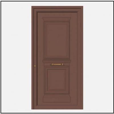 Πόρτα Εισόδου Αλουμινίου Παραδοσιακή 55045