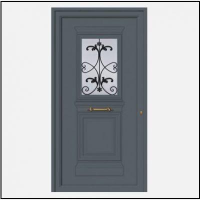 Πόρτα Εισόδου Αλουμινίου Παραδοσιακή 55046