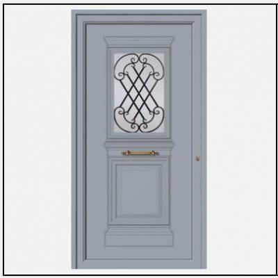 Πόρτα Εισόδου Αλουμινίου Παραδοσιακή 55048