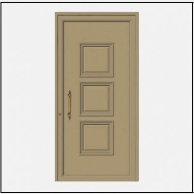 Πόρτα Εισόδου Αλουμινίου Παραδοσιακή 55100
