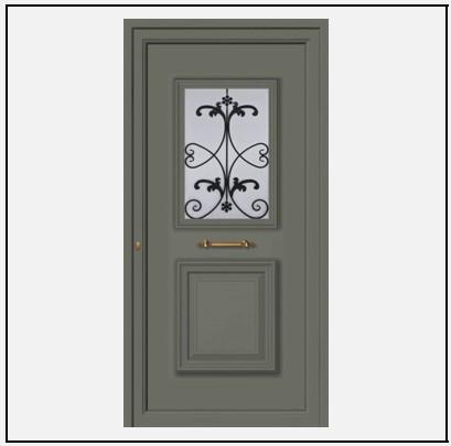 Πόρτα Εισόδου Αλουμινίου 55042