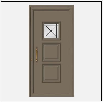 Πόρτα Εισόδου Αλουμινίου 55101
