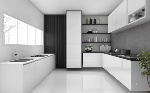 Ασπρόμαυρη σύνθεση κουζίνας