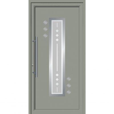 64002 Πόρτες εισόδου από αλουμίνιο και με επένδυση Inox exal