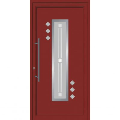 64004 Πόρτες εισόδου από αλουμίνιο και με επένδυση Inox exal