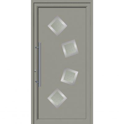 64026 Πόρτες εισόδου από αλουμίνιο και με επένδυση Inox exal