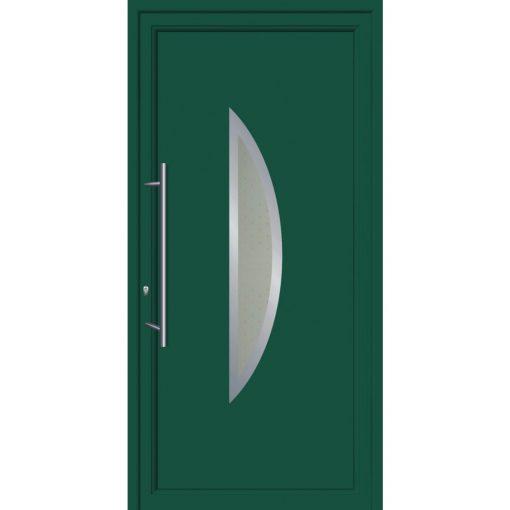 64036 Πόρτες εισόδου από αλουμίνιο και με επένδυση Inox exal