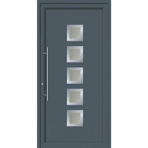 64081 Πόρτες εισόδου από αλουμίνιο και με επένδυση Inox για πολυκατοικίες