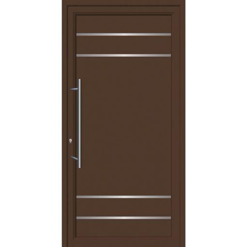 64100 Πόρτες εισόδου από αλουμίνιο και με επένδυση Inox για πολυκατοικίες