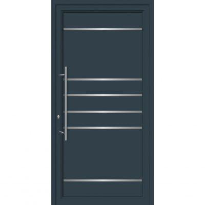 64101 Πόρτες εισόδου από αλουμίνιο και με επένδυση Inox για πολυκατοικίες