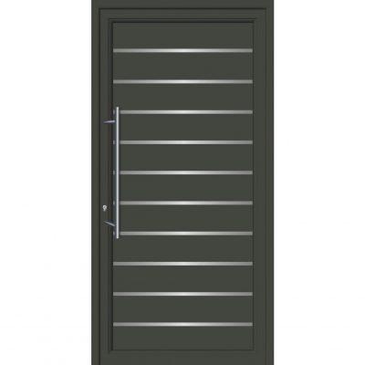 64102 Πόρτες εισόδου από αλουμίνιο και με επένδυση Inox για πολυκατοικίες