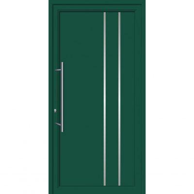 64103 Πόρτες εισόδου από αλουμίνιο και με επένδυση Inox για πολυκατοικίες