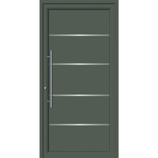 64108 Πόρτες εισόδου από αλουμίνιο και με επένδυση Inox για πολυκατοικίες