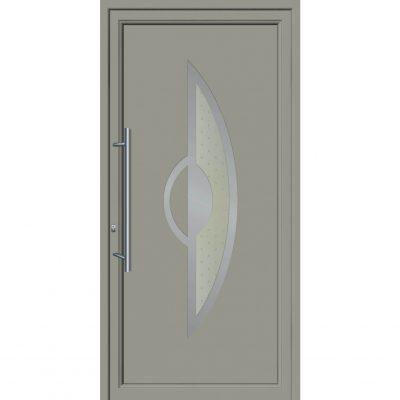 64151 Πόρτες εισόδου από αλουμίνιο και με επένδυση Inox για πολυκατοικίες