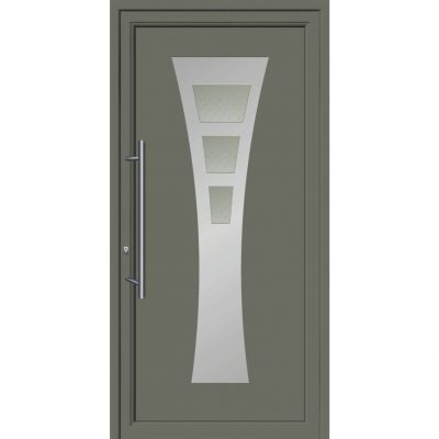 64171 Πόρτες εισόδου από αλουμίνιο και με επένδυση Inox για πολυκατοικίες