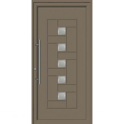 64241 Πόρτες εισόδου με επένδυση Inox ενεργειακές