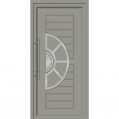 64255 Πόρτες εισόδου με επένδυση Inox ενεργειακές