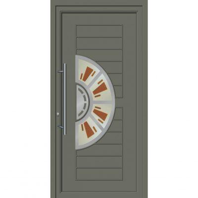 64257 Πόρτες εισόδου με επένδυση Inox ενεργειακές