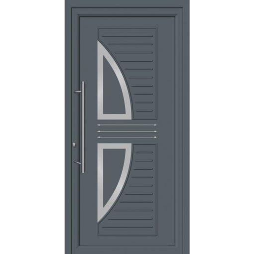 64260 Πόρτες εισόδου με επένδυση Inox ενεργειακές
