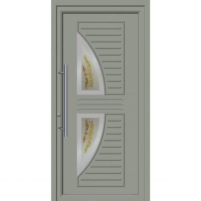 64262 Πόρτες εισόδου με επένδυση Inox ενεργειακές