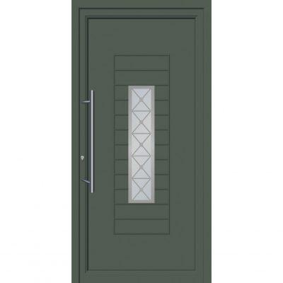 64267 Πόρτες εισόδου από αλουμίνιο ενεργειακές με επένδυση inox