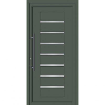64275 Πόρτες εισόδου από αλουμίνιο ενεργειακές με επένδυση inox