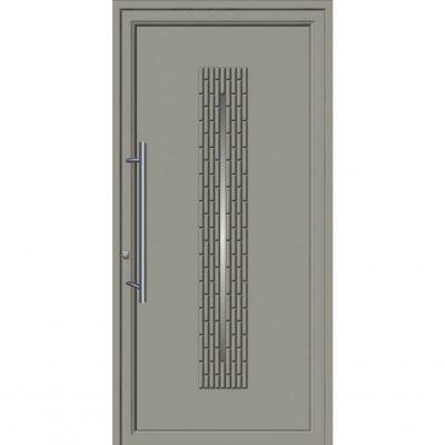 64280 Πόρτες εισόδου από αλουμίνιο ενεργειακές με επένδυση inox