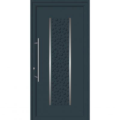 64285 Πόρτες εισόδου από αλουμίνιο ενεργειακές με επένδυση inox