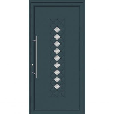 64295 Πόρτες εισόδου από αλουμίνιο ενεργειακές με επένδυση inox