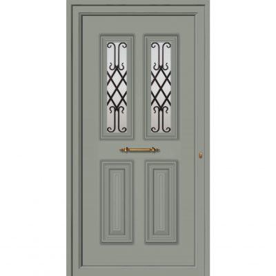 65022 Πόρτες εισόδου από αλουμίνιο παραδοσιακές