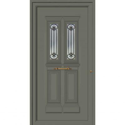 65033 Πόρτες εξωτερικές αλουμινίου παραδοσιακές