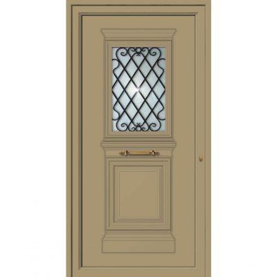 65055- Πόρτες εισόδου από αλουμίνιο παραδοσιακές