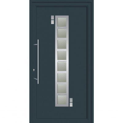 67021 Πόρτες εισόδου από αλουμίνιο ενεργειακές με επένδυση inox