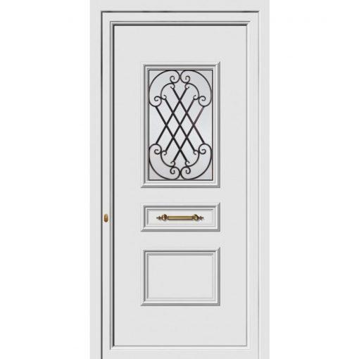 68161 Πόρτες εισόδου Pvc ενεργειακές exal για πολυκατοικίες