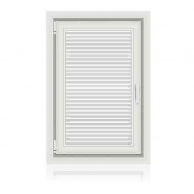 Μονόφυλλο Ανοιγόμενο παράθυρο με Πατζούρι