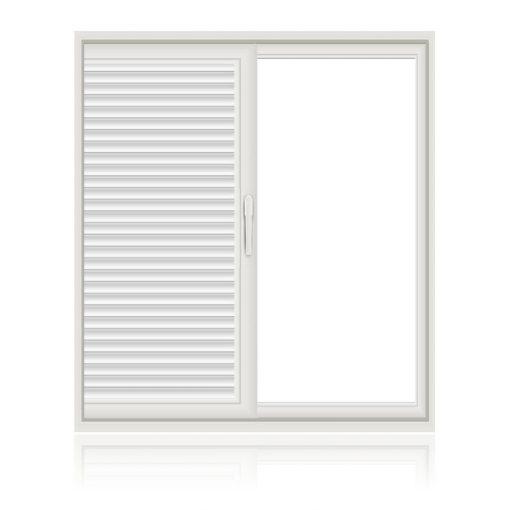 Μονόφυλλο συρόμενο παράθυρο παντζούρι