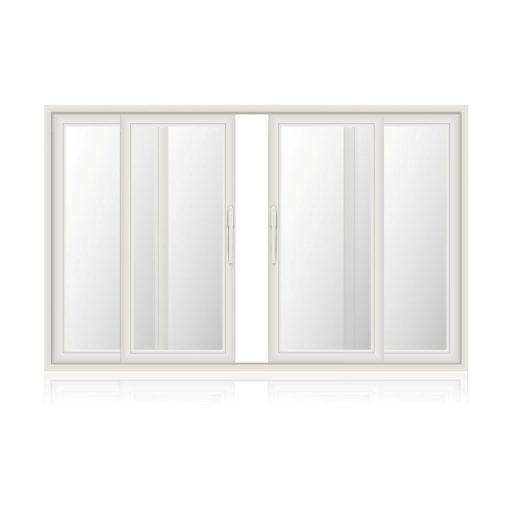 Τετράφυλλο συρόμενο παράθυρο - μπαλκονόπορτα με τζαμι