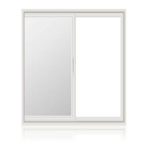 μονόφυλλο συρόμενο παράθυρο με τζάμι